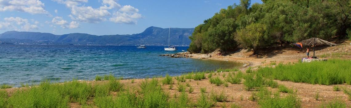 Pláž na ostrově Vidos