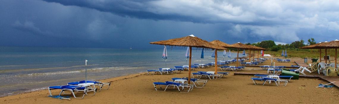 Lefkimi - pláž Bouka